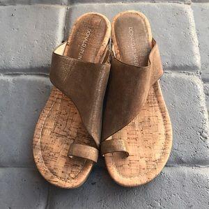 Donald JP Liner wedges sandals . Size 7 1/2 M